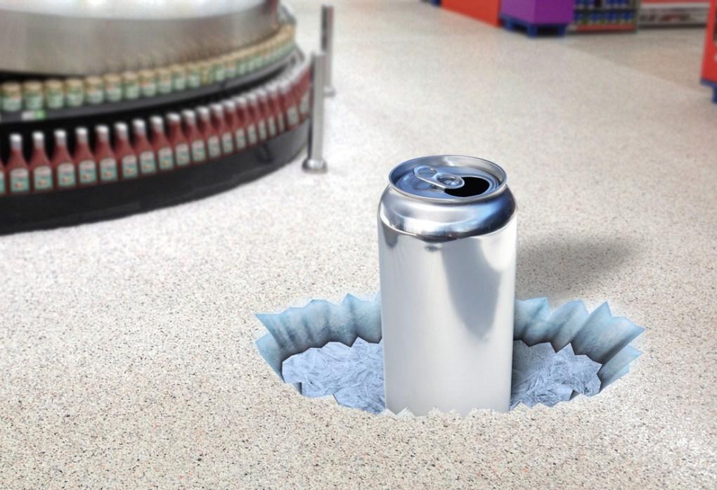 Aluminum Beverage Can Floor Graphic