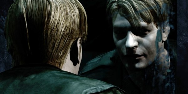 Silent Hill 2: Restless Dreams. James Sunderland looking in the mirror.