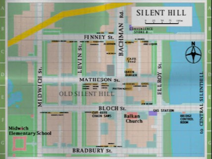Map of Silent Hill.