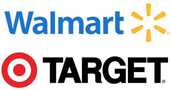 Walmart Target Logos Differentiation