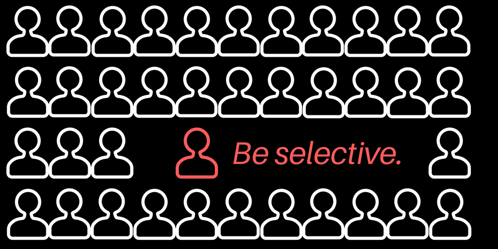 Be selective to do more with less