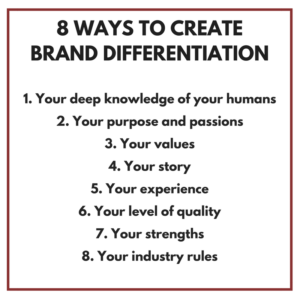 Brand Differentiation Matthew Fenton