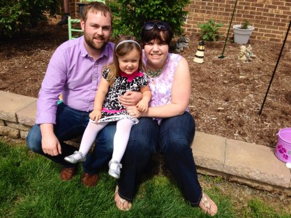 Easter photo of Matthew, Paige, and Emma