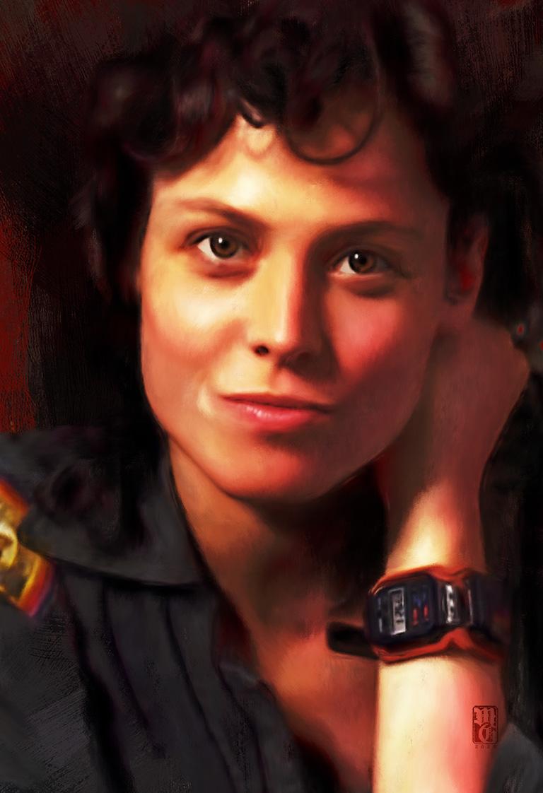 Portrait of Sigourney Weaver as Ripley