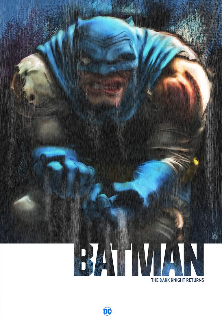 Concept comic book cover for Batman The Dark Knight