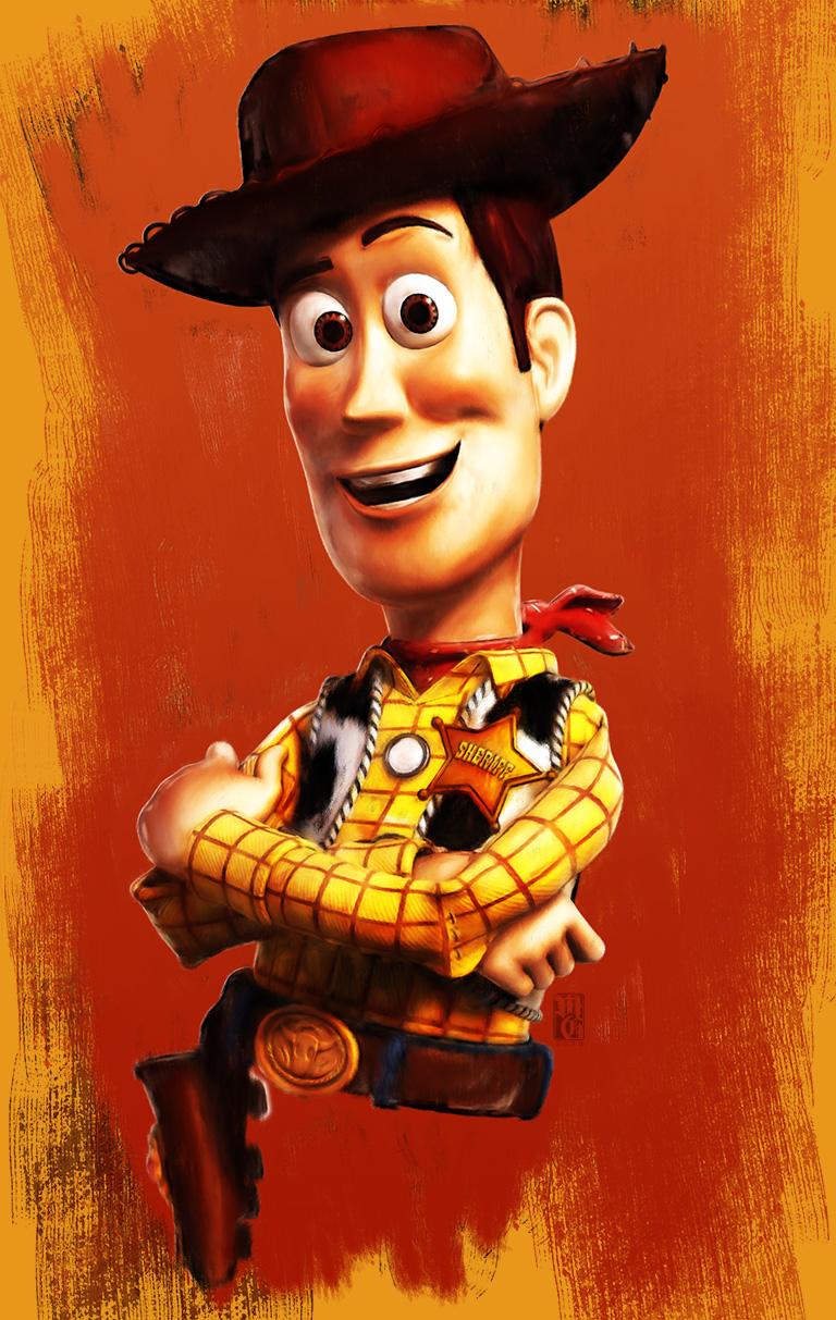 "Portrait of Sheriff Woody from Disney • Pixar's ""Toy Story"" film series"