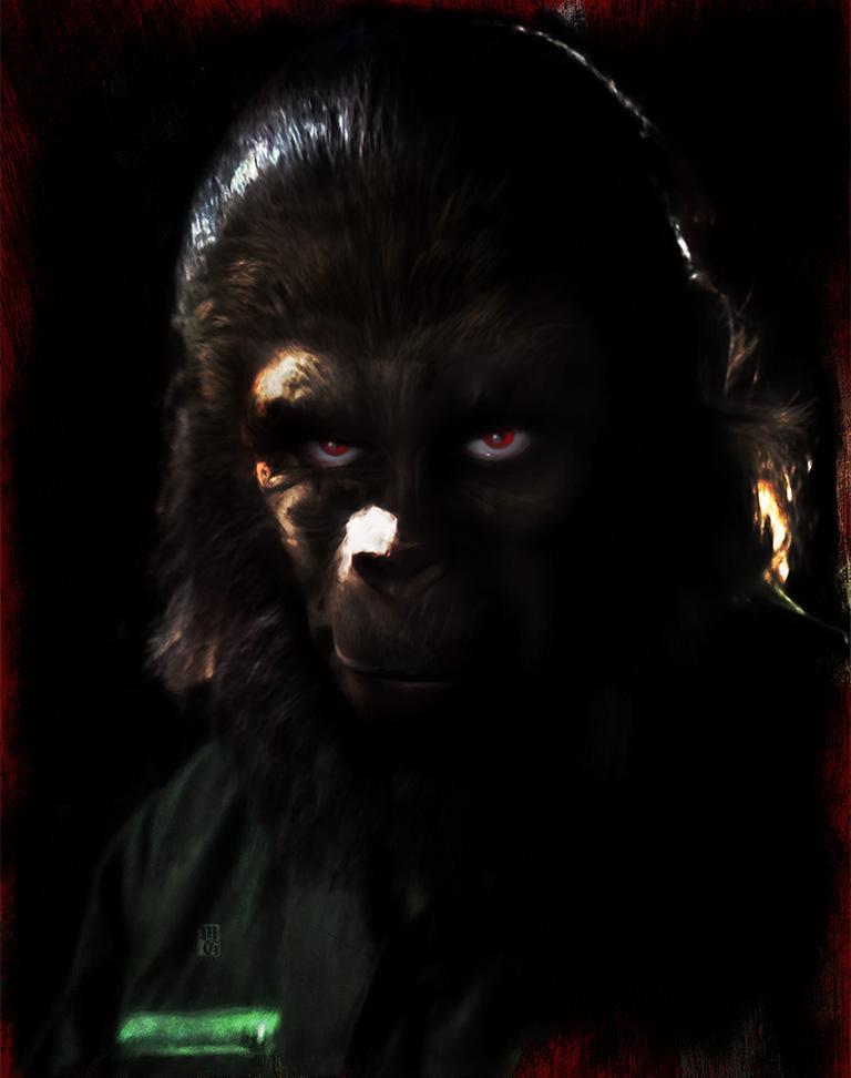 Portrait of Roddy McDowell as Caesar
