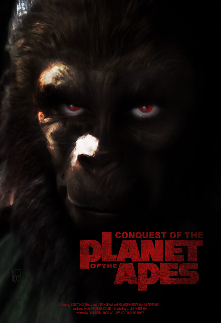 """Alt-fan movie poster for """"Conquest of the Planet of the Apes"""""""
