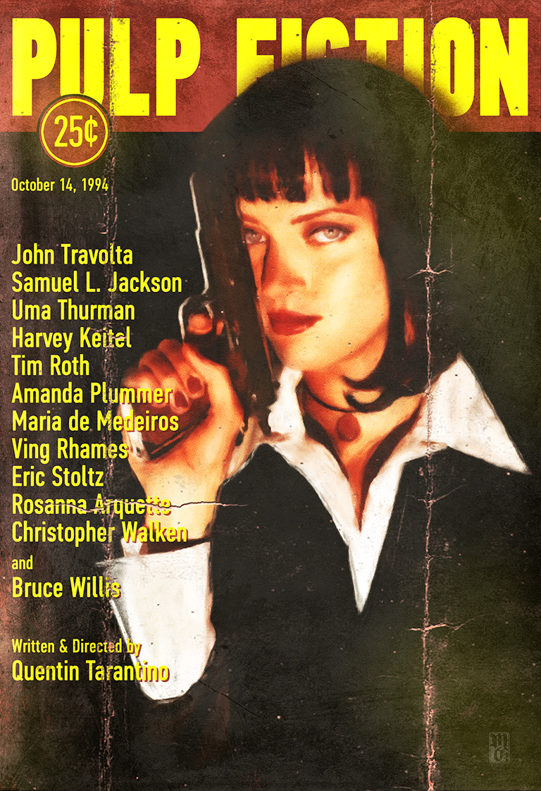 Weathered Pulp Fiction paperback cover