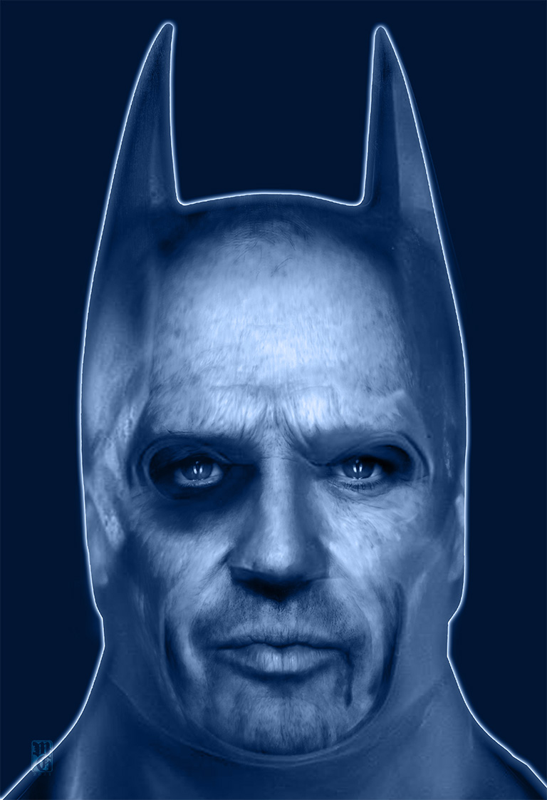 Old Bat Man alt-fan poster