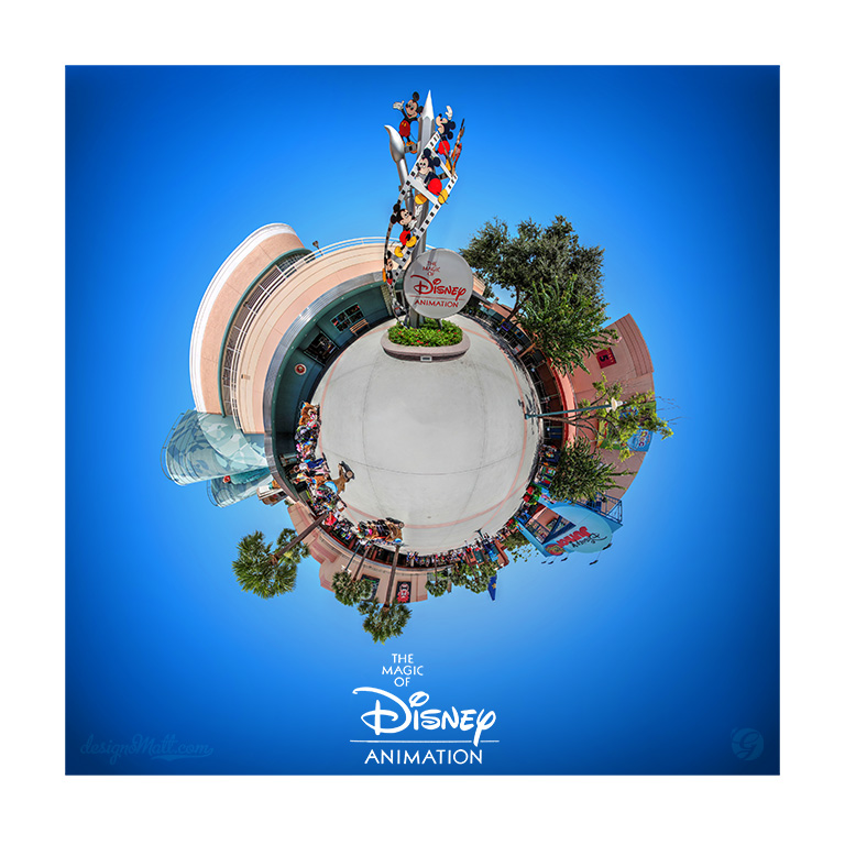 Tiny planet of the Magic of Disney Animation attraction in the Disney Hollywood Studios
