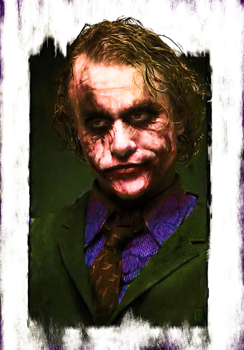 Portrait of Heath Ledger as The Joker