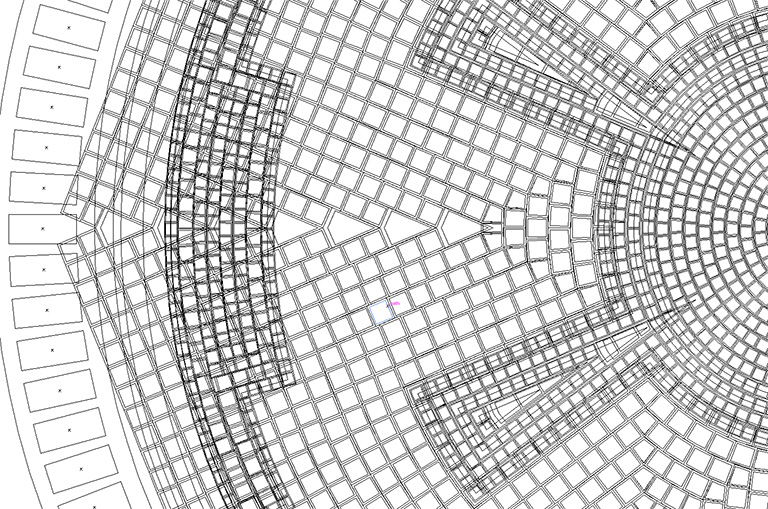 Empire tile pattern vector, detailed view
