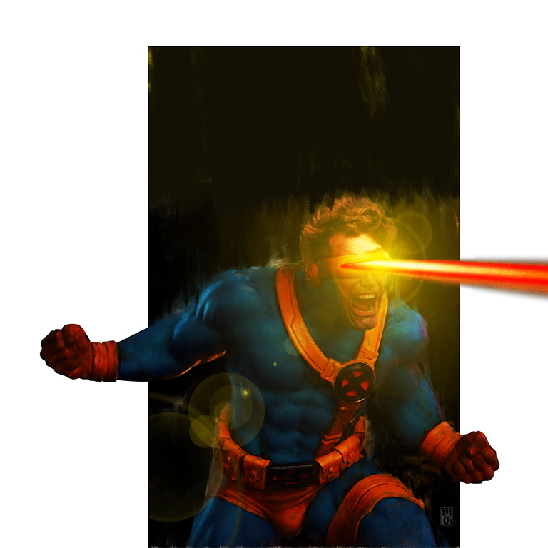 Cyclops comic book cover layout
