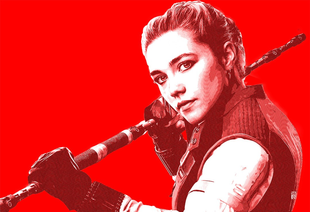 Portrait of Florence Pugh as Yelena from Black Widow