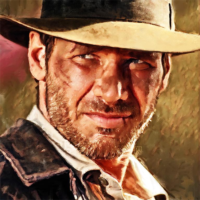 Final portrait of Harrison Ford as Indiana Jones