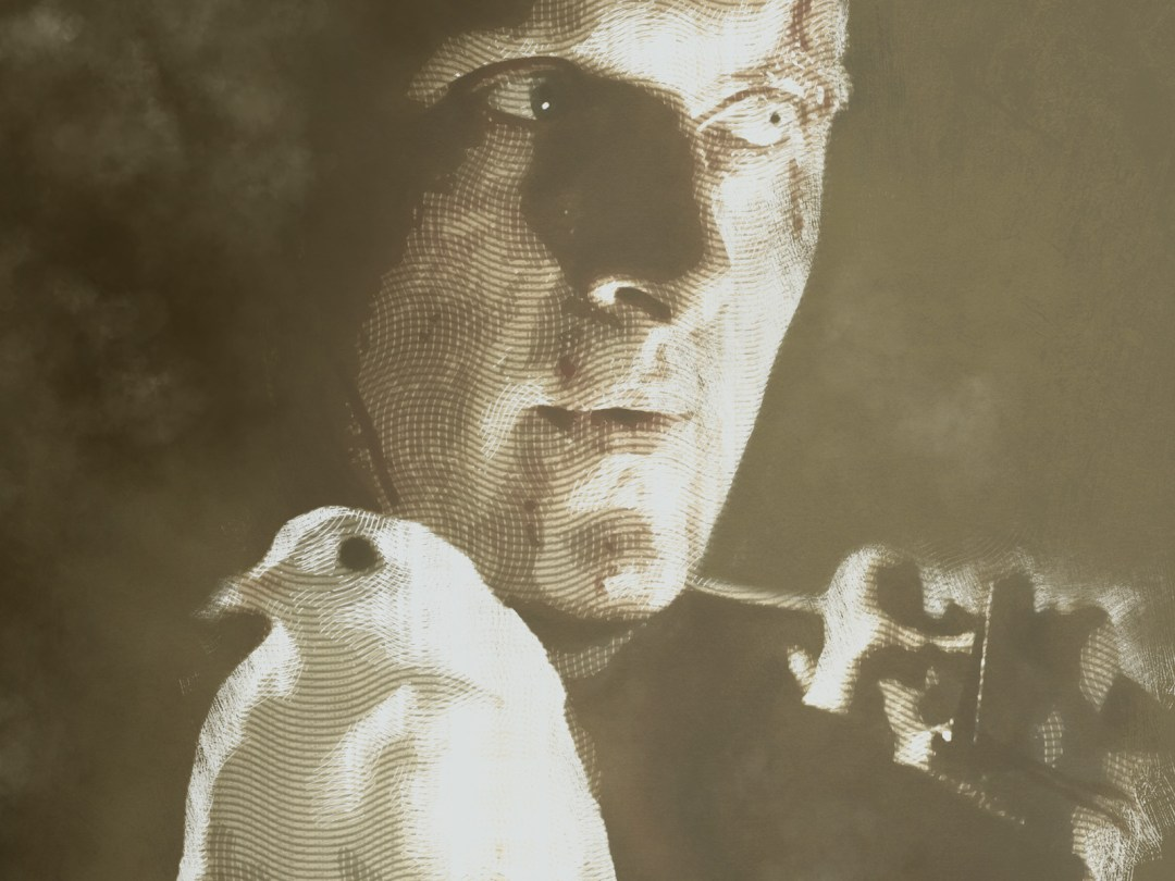 """Detail of illustration of Rutger Hauer as Roy Batty from """"Blade Runner"""""""
