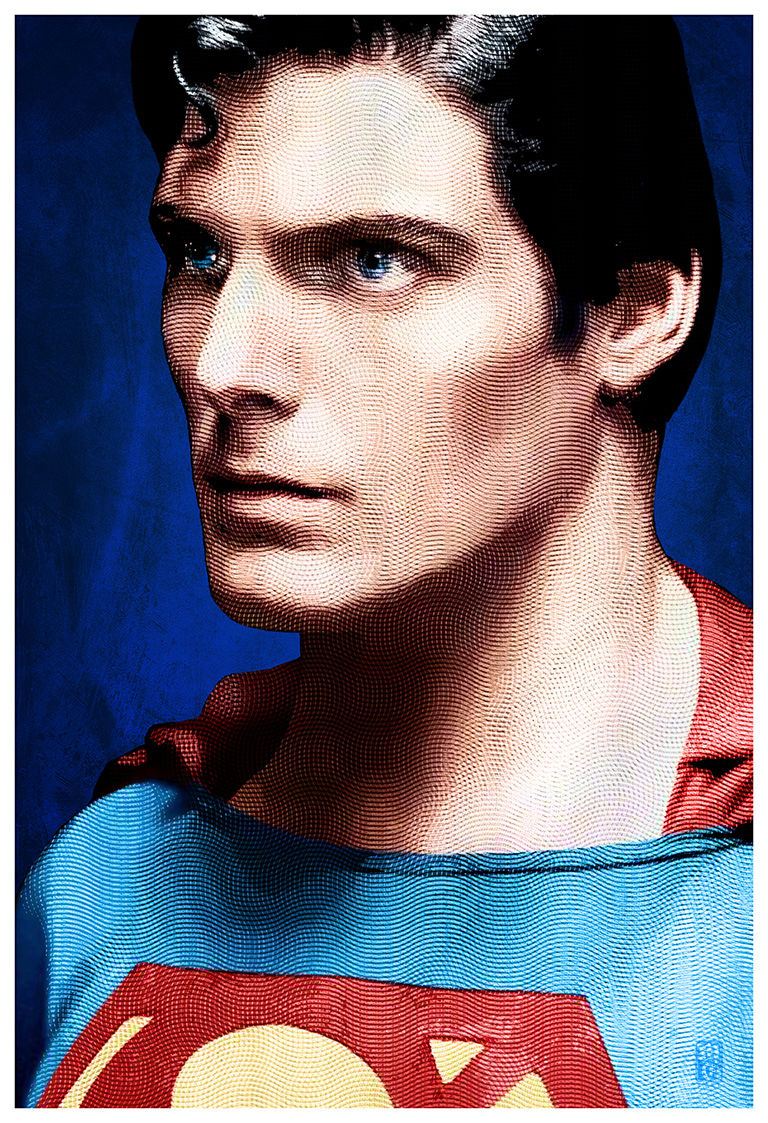 Portrait of Christopher Reeve as Superman