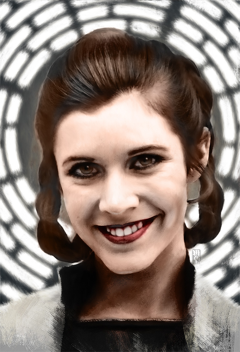 Portrait of Carrie Fisher as Princess Leai