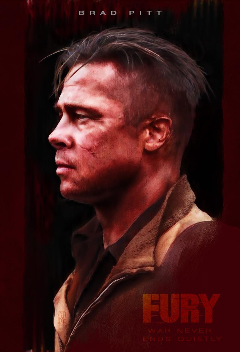 "Alternative movie poster for David Ayers' film ""Fury"" starring Brad Pitt as Wardaddy"