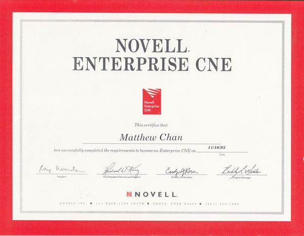 Novell Enterprise CNE
