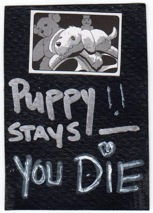Puppy says die