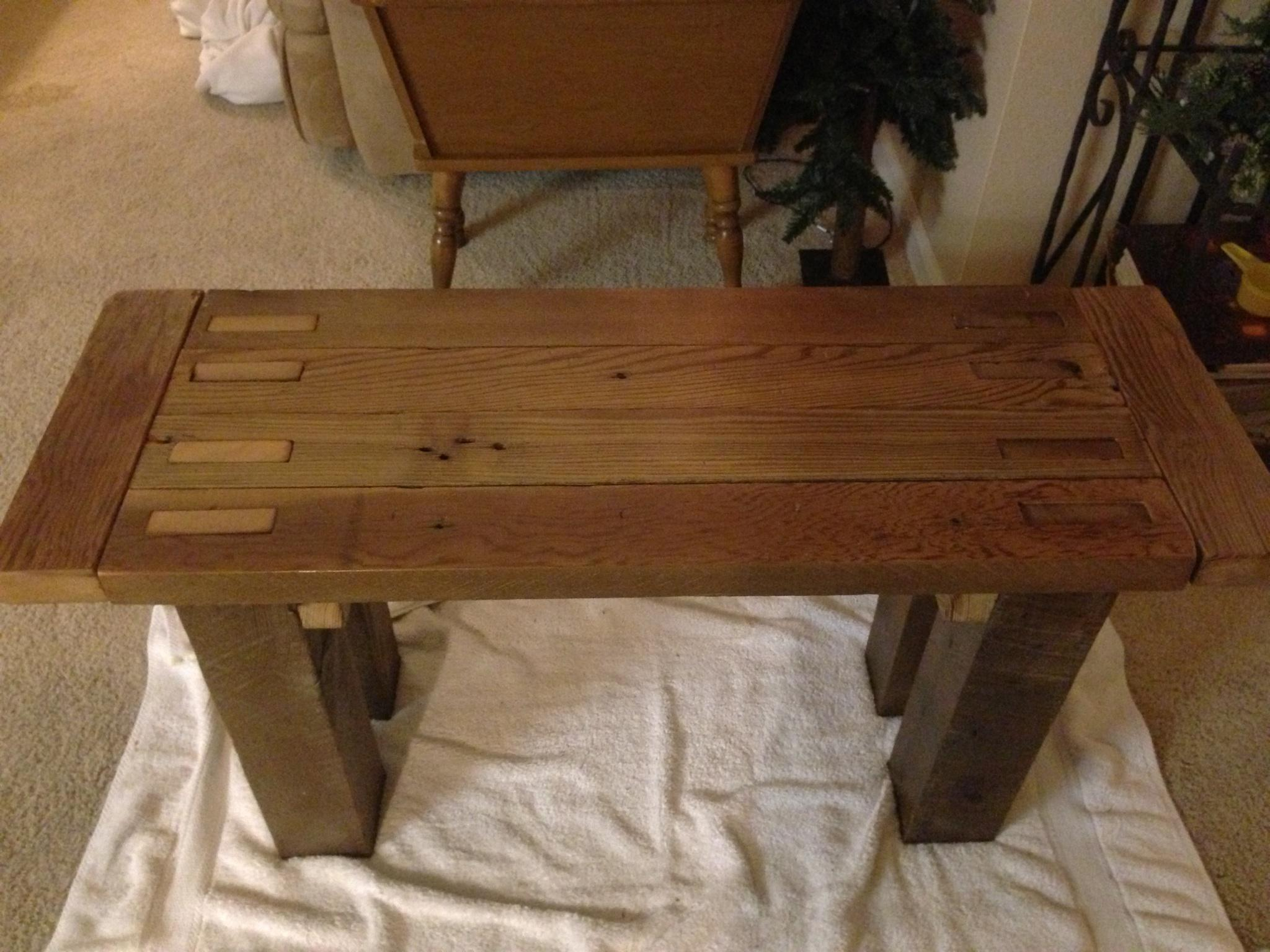 Barn Wood Bench Matthew Amp Colleens Blog