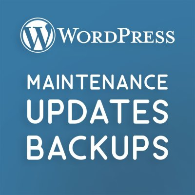 Wordpress Maintenance Updates-Backups