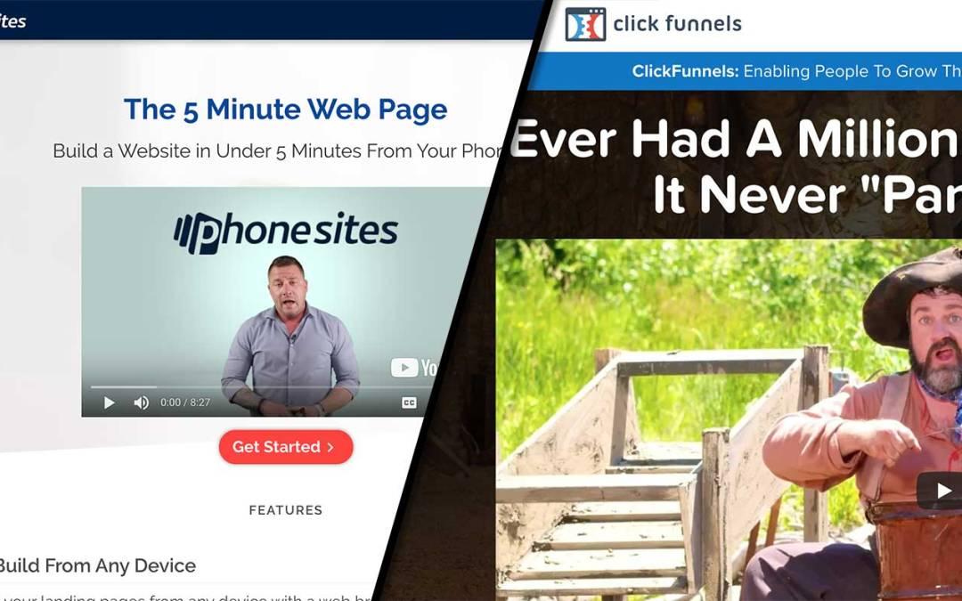 PhoneSites vs ClickFunnels Review