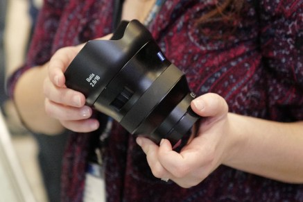 Zeiss' new 2.8/18 Batis lens. Excellent for drone work using Sony bodies.