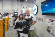 Les and Chris from ZGC (Cooke Optics) with their new baby - the 35-140mm Cooke Anamorphic zoom.