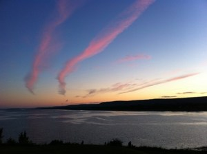 Sunset over the Annapolis Basin