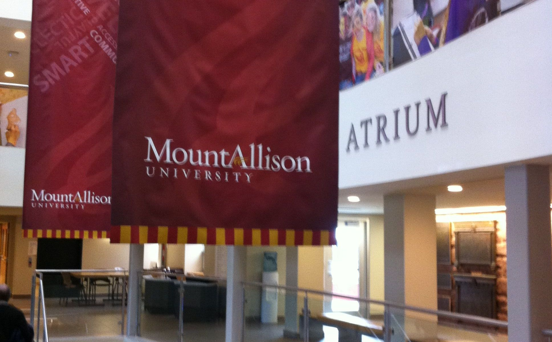 Atrium in the Wallace McCain Student Centre