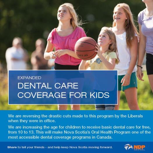 Dental care thanks to the NDP