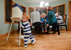 Hudson Byrne, 11 months old, during dinner on Thursday. Go to timescall.com for more photos. Matthew Jonas/Staff Photographer Dec. 10, 2015