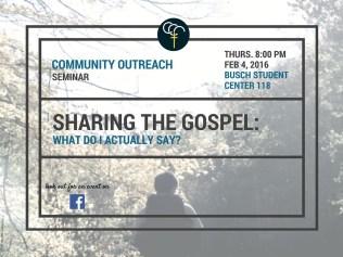 Seminar for Community Outreach Announcement