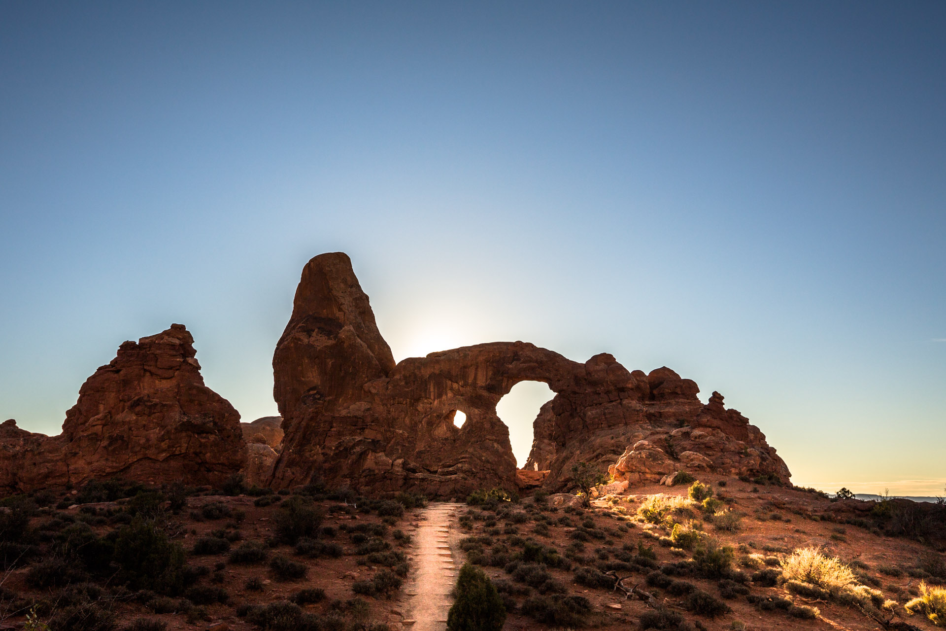 adventure in Arches National park moab utah landscape arch adventure in Arches National park moab utah turret arch