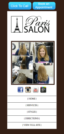 Paris Salon Mobile Site