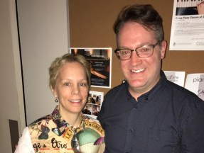 With Augusta Read Thomas at PianoForte Chicago