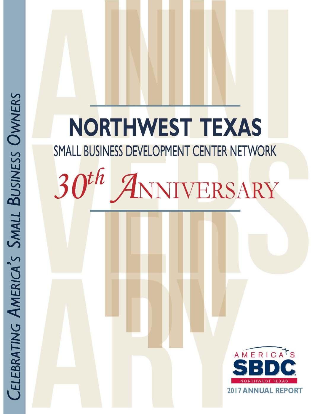 Northwest Texas Small Business Development Center 2017 Annual Report