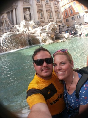 Obligatory Trevi Fountain selfie.