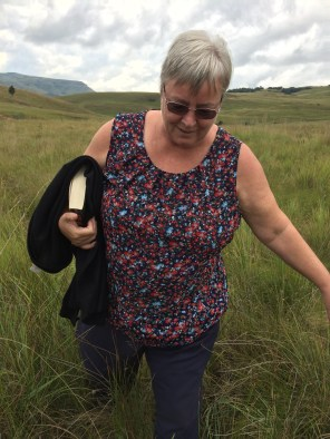 We even managed to get my mother to walk through the bush to flat rocks at the rivers edge.
