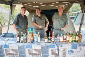 Yes, I spent a lot of time here with these guys, (L-R) Jannie, Johan and Piet. PICTURE: Ravi Gajjar