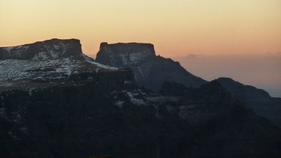 Cathkin peak and its other companions just before dark.