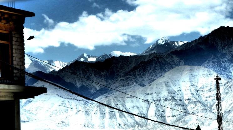 View of the Himalayas from Lamayuru Monastery   Ladakh