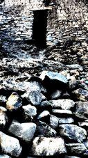 Abandoned stone hut on a Himalayan trail | Ladakh