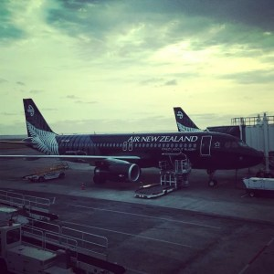 Air New Zealand plane on tarmac
