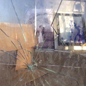 Christchurch earthquake shop window cracked by Matt Taylor