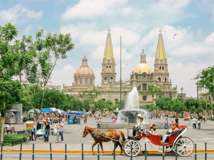 Guadalajara Cathedral in the zocalo of Guadalajara, Jalisco
