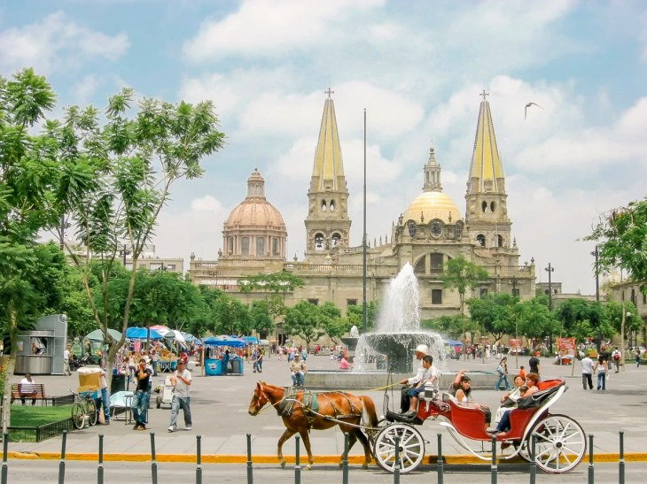 Guadalajara Cathedral in the zocalo of Guadalajara, Jalisco